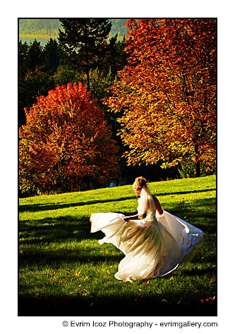 Bridal Veil Oregon Hood River Fall Wedding and Colors