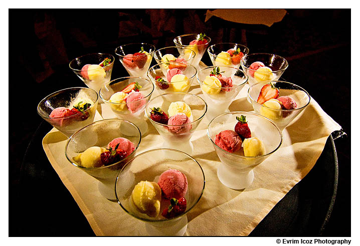 Mango Strawberry Lemon Sorbet at Wedding