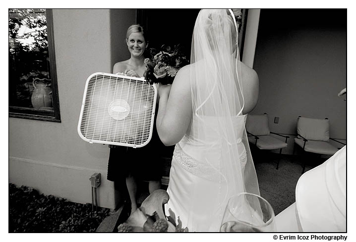 hot portland wedding summer